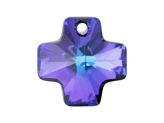 Cross Pendant Crystal Heliotrope 20mm