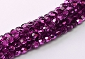 50 Glasschliffperlen Crystal Dark Purple Metallic Ice