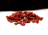 5g Tri-Beads Chalk White Lava Red