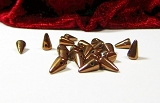 20 Spike Beads Jet Bronze 5x8mm
