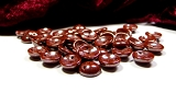 30 Piggy Beads Copper Pearly