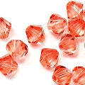 100 Stück Bicone Crystal Sweet Orange