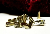 6 Spike Beads Crystal Gold 7x17mm