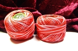 Cotton Perle 12 Red Pink Shades