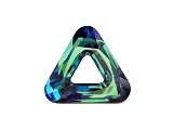 Triangle Ring Crystal Bermuda Blue 20mm