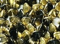 50 Pinch Beads Jet Gold