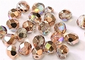 50 Glasschliffperlen Crystal Copper Rainbow