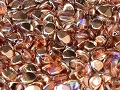50 Pinch Beads Crystal Copper Rainbow