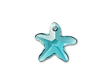 Starfish Pendant Indicolite 16mm