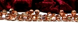 50 Glastropfen Crystal Half Copper Coated